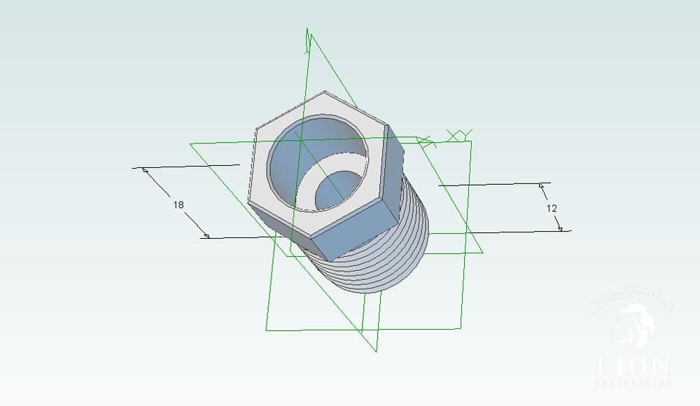 Verloop nippen M12x1,25 buitendraan en M10x1,25 binnendraad om Quooker op daalderop 3in1 kraan aan te