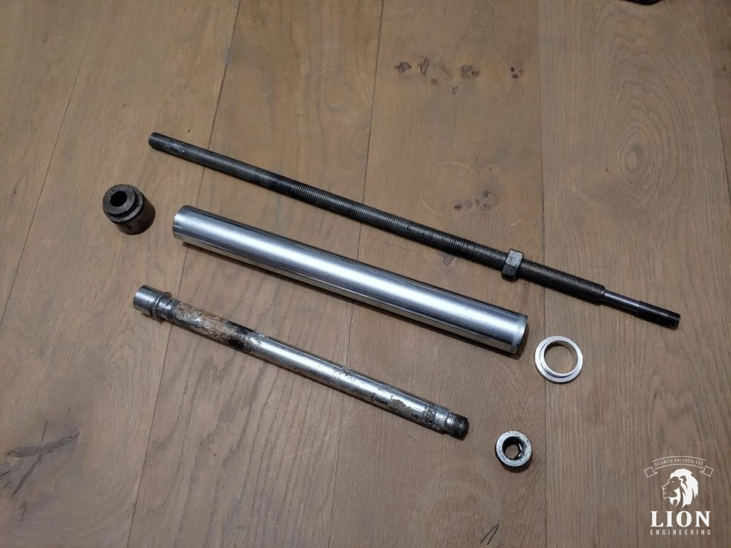 Ducati rear swing arm axle removal tool