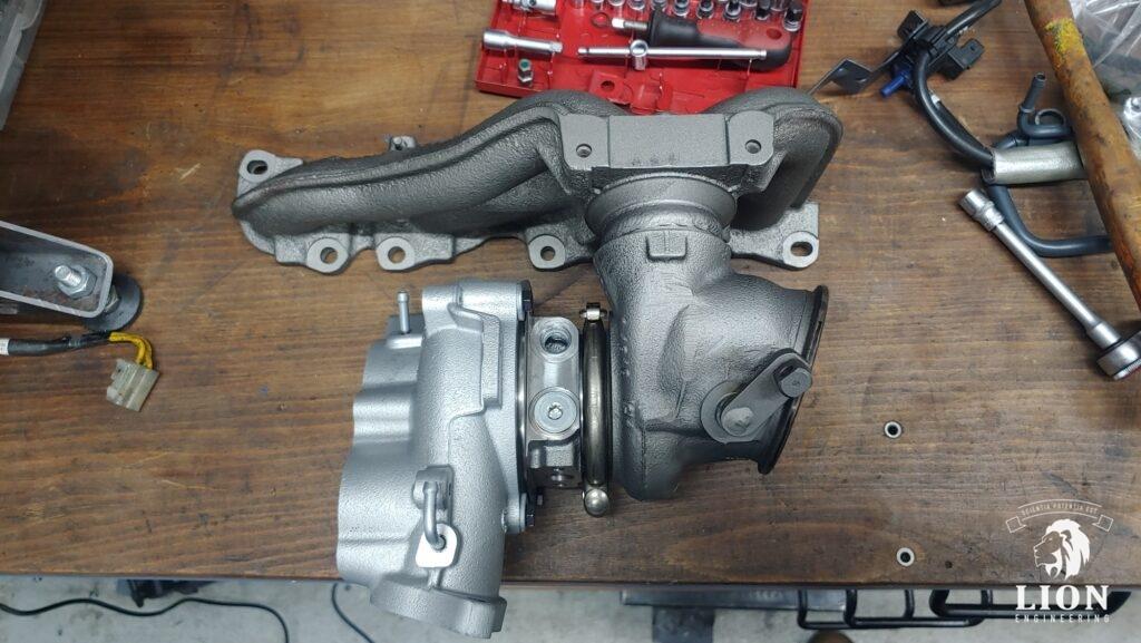 Gereviseerde turbo van een Lancia Delta 1.8 DI en Alfa 159 tbi motor